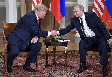 US President Donald Trump with Russia's President Vladimir Putin. Photo Credit: Kremlin.ru