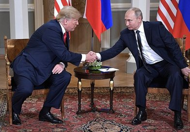 US President Donald Trump with Russia's President Vladimir Putin. Photo Credit: Kremlin.ru