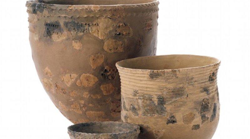 This is incipient J?mon pottery from Hanamiyama site, Yokohama-shi, Kanagawa Prefecture, Japan. Credit Nara National Research Institute for Cultural Properties