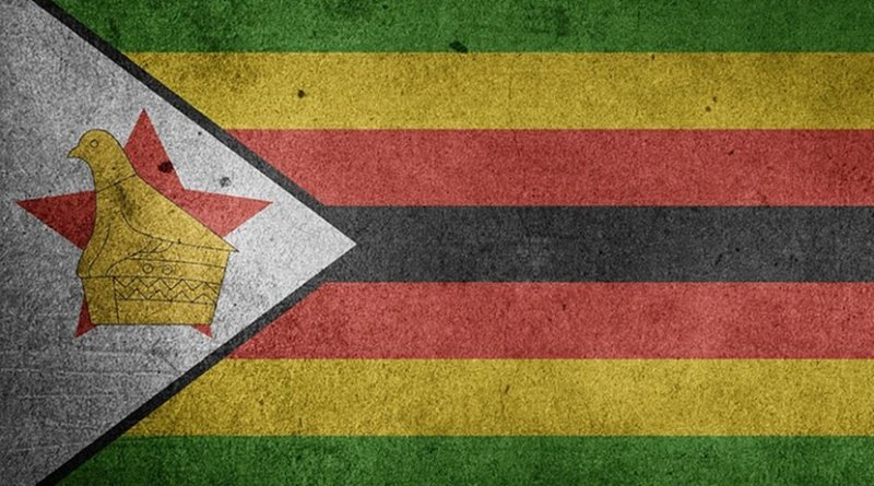 Flag of Zimbabwe.