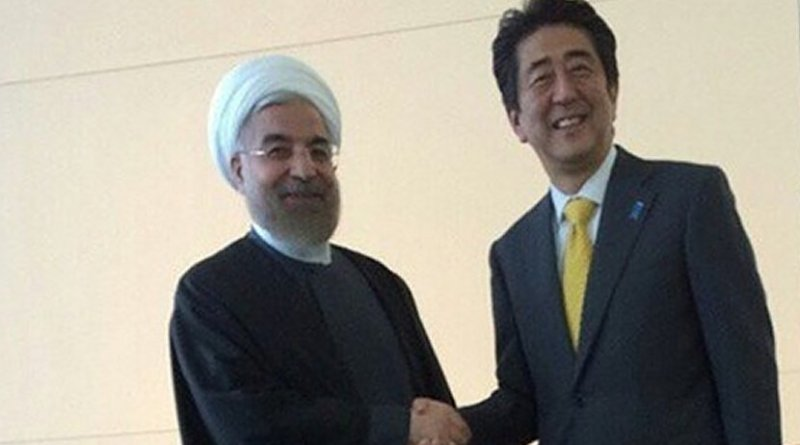 Iran's Hassan Rouhani and Japan's Prime Minister Shinzo Abe. Photo Credit: Tasnim News Agency.