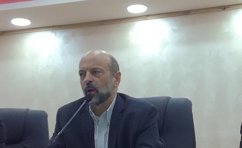 Jordan's Omar Razzaz. Photo Credit: Mohammad Hajeer, Wikimedia Commons.