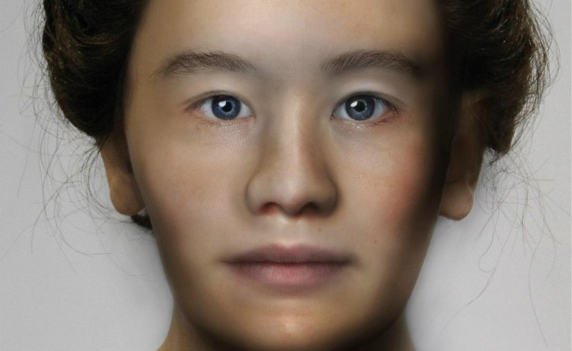 This is the face reconstruction of the young woman. Credit Caroline Wilkinson, Mark Roughley, Ching Liu and Kathryn Smith at the Face Lab at Liverpool John Moores University for their different contributions to the production of the facial depiction