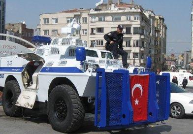 Police tank in Istanbul, Turkey.