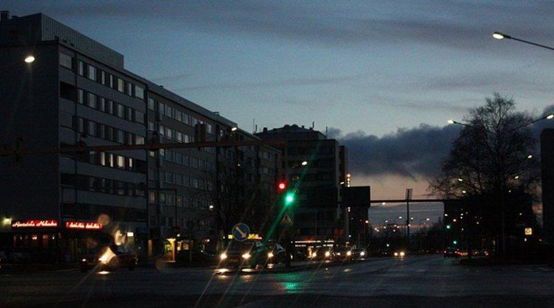 Traffic in Oulu, Finland.