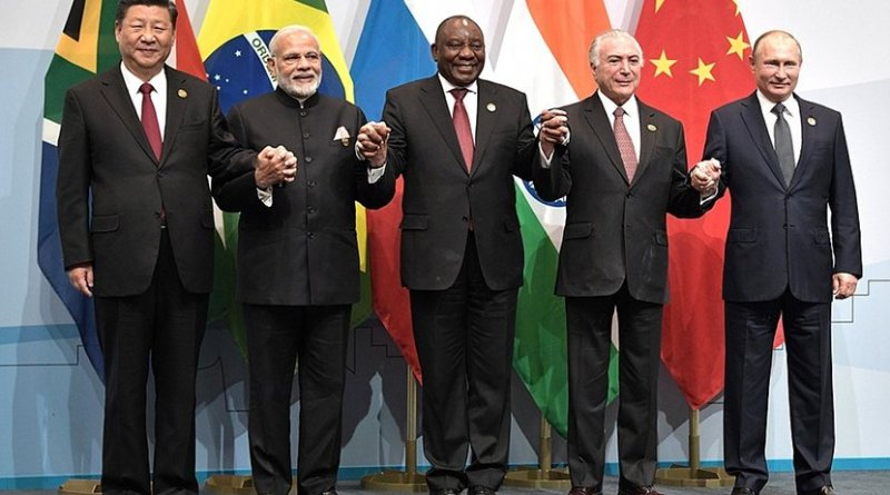 Participants in the 2018 BRICS summit. Photo Credit: Kremlin.ru