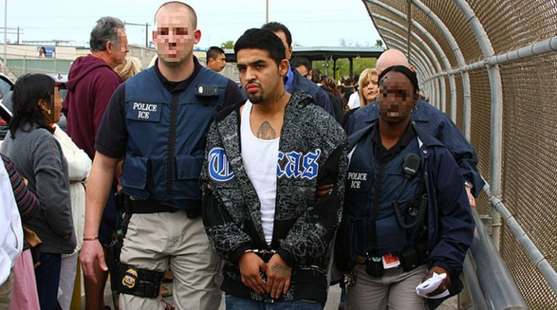 U.S. Immigration and Customs Enforcement (ICE) Agents deport a man back to Mexico. Photo Credit: U.S. Immigration and Customs Enforcement, Wikimedia Commons.
