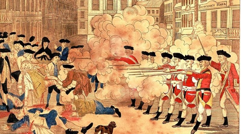 Boston Massacre by Paul Revere.