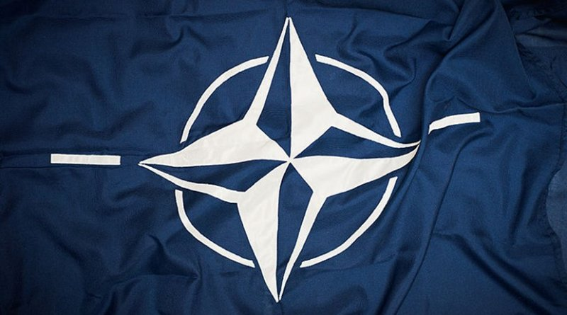 NATO flag. Photo Credit: Sergeant Paul Shaw LBIPP (Army), Wikimedia Commons.