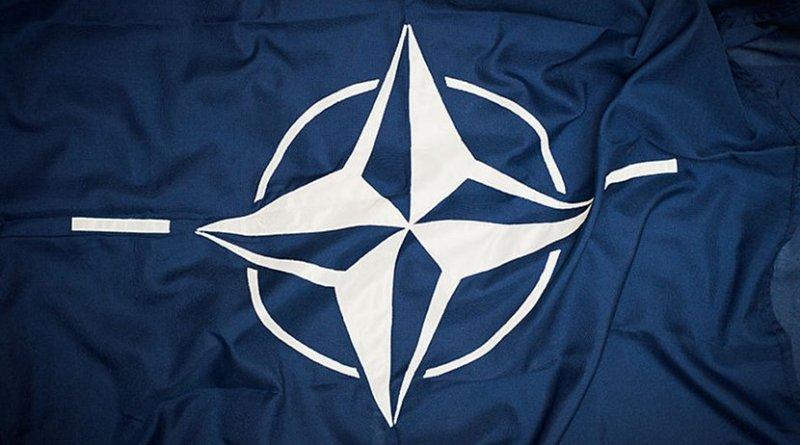 NATO flag. Photo Credit: Sergeant Paul Shaw LBIPP (Army), Wikimedia Commons.
