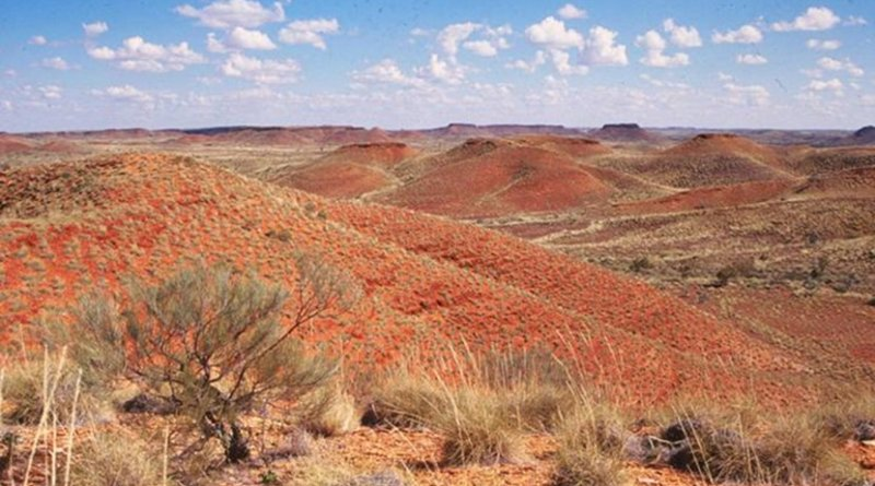 """The Jeerinah Formation in Western Australia, where a UW-led team found a sudden shift in nitrogen isotopes. """"Nitrogen isotopes tell a story about oxygenation of the surface ocean, and this oxygenation spans hundreds of kilometers across a marine basin and lasts for somewhere less than 50 million years,"""" said lead author Matt Koehler. Credit Roger Buick / University of Washington"""