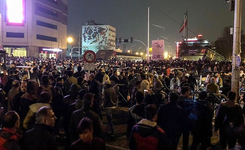 2017-18 protests in Tehran. Credit: Fars News Agency | Wikimedia Commons.