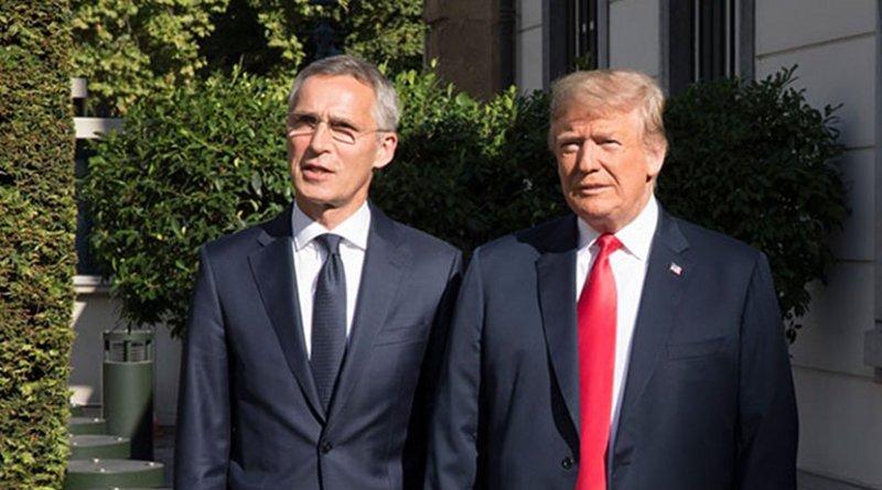 NATO Secretary General, Jens Stoltenberg and US President Donald Trump. Photo Credit: NATO.