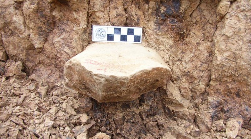 Picture taken at the site of the discovery of ancient tools in China. Credit Prof. Zhaoyu Zhu