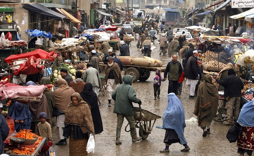 Street scene in Afghanistan.