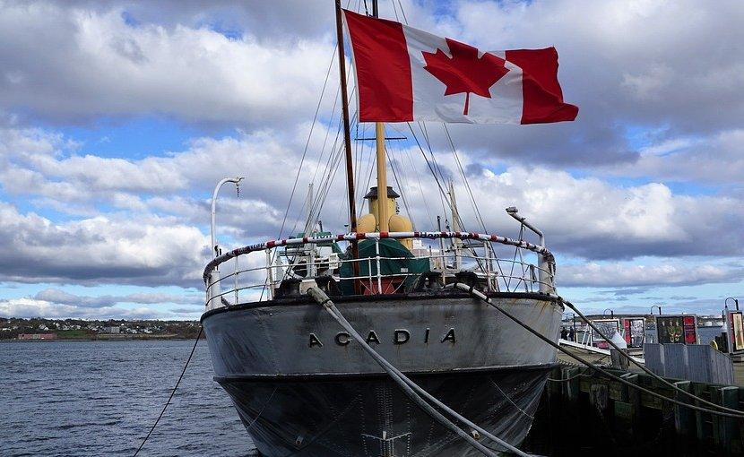 Boat in Halifax, Canada.