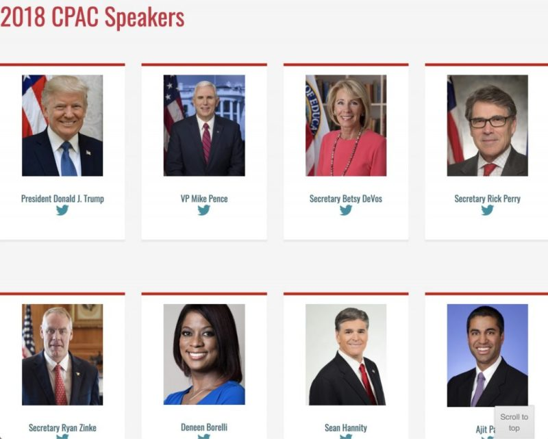 Most of the Trump administration is invited to speak at CPAC Trump PAC.