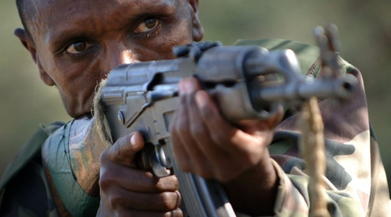 Ethiopian soldier: Photo Credit: US government, Wikipedia Commons.