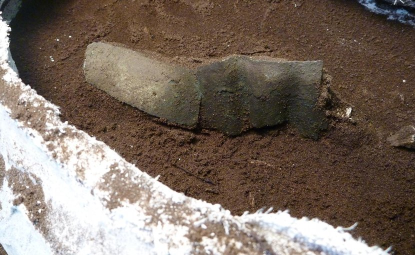 This is a copper band revealed during excavations. Credit Matthew Sanger