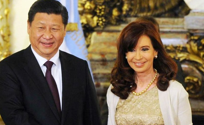 China's Xi Jinping and Cristina Fernández in Argentina. Photo Credit: Mercopress