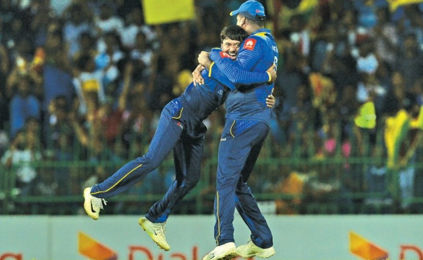 Sri Lanka celebrates cricket win. Photo Credit: Sri Lanka government