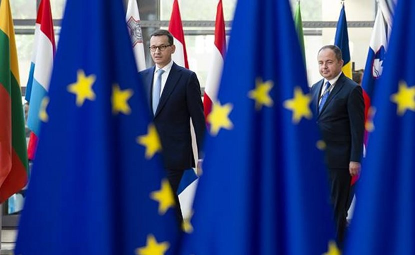 File photo of Mateusz Morawiecki, Polish Prime Minister and Konrad Szymanki, Polish Minister for European Affairs arriving to the European Council. Photo Credit: European Union