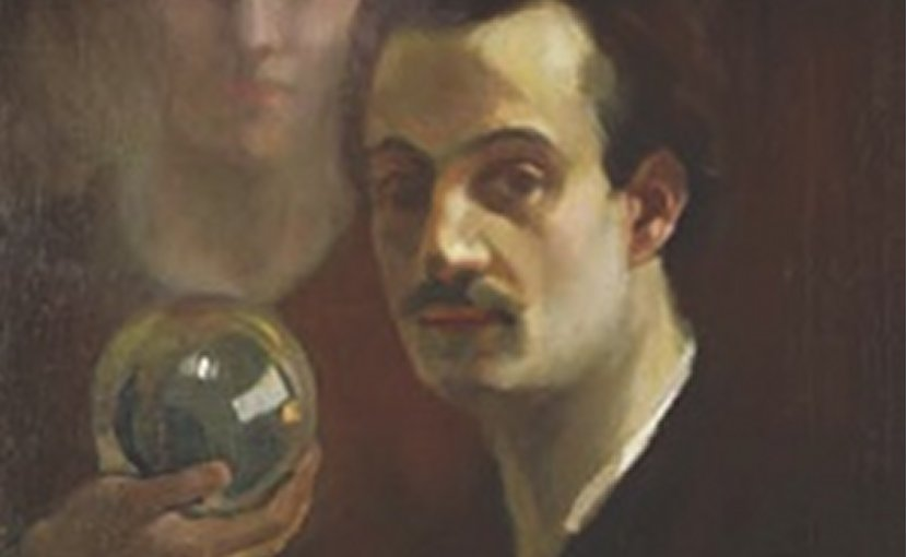 Kahlil Gibran, self-portrait, c. 1911. Source: Wikipedia Commons.