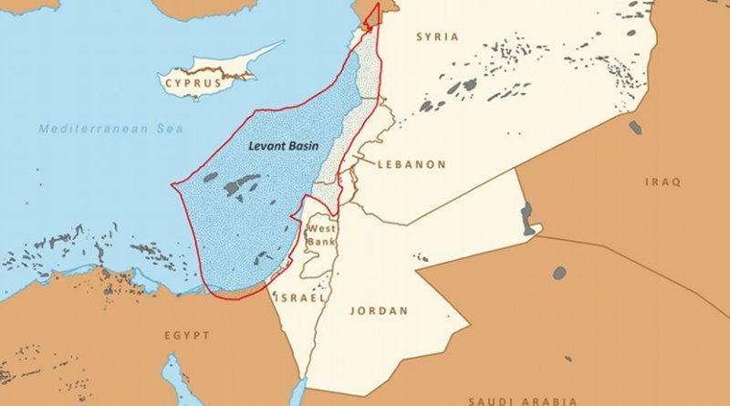 Boundaries of the Levant Basin, or Levantine Basin (US EIA)