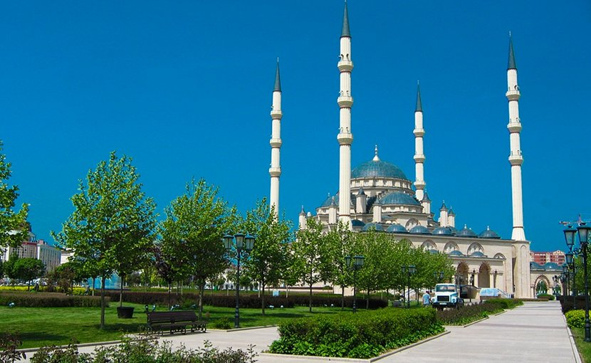 Mosque in Grozny, Chechnya.