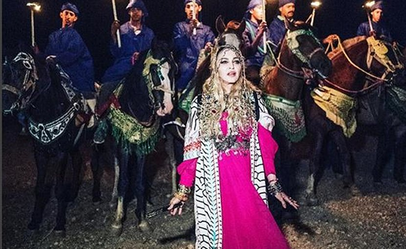 Madonna is celebrating her 60th birthday in Marrakech in Morocco. (Instagram: Madonna and Arab News)