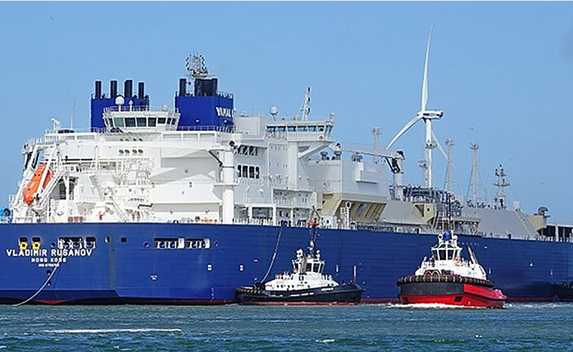 Russian LNG carrier Vladimir Rusanov. Photo Credit: kees torn, Wikimedia Commons.