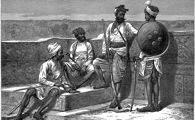 Caste system in historical India.