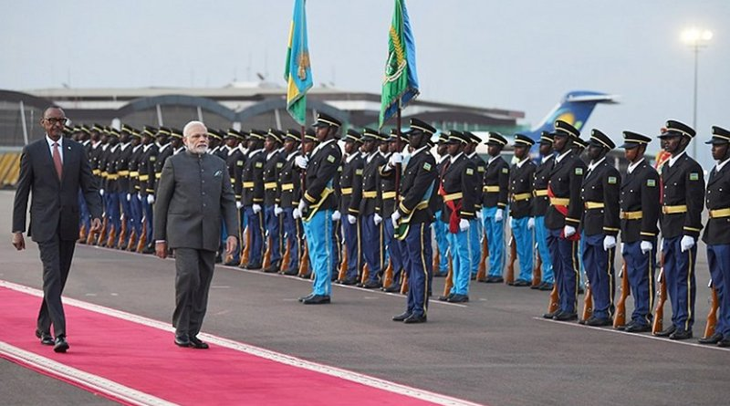 India's PM Narendra Modi with Rwandan President Paul Kagame. Photo Credit: India PM Office.
