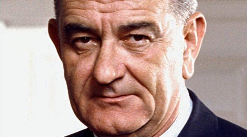 Photo portrait of President Lyndon B. Johnson. Photo Credit: Arnold Newman, White House Press Office