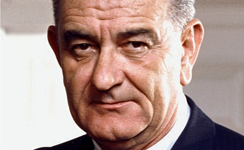 Photo portrait of President Lyndon B. Johnson. Photo Credit: Arnold Newman, White House Press Office