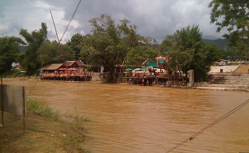 River in Laos. Photo Credit: Matthew Summerton, Wikimedia Commons.