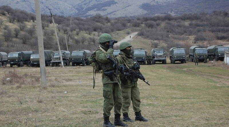 """Little Green Men"" soldiers in Crimea"