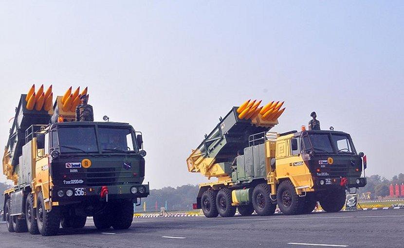 India's Pinaka multiple rocket launcher. Photo Credit: Hemant.rawat1234, Wikipedia Commons.