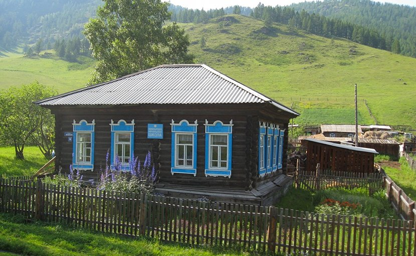 A small farm in Russia.