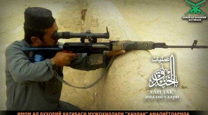 Militant of Katibat Imam al Bukhari in the joint terror operation Khandak with the Taliban
