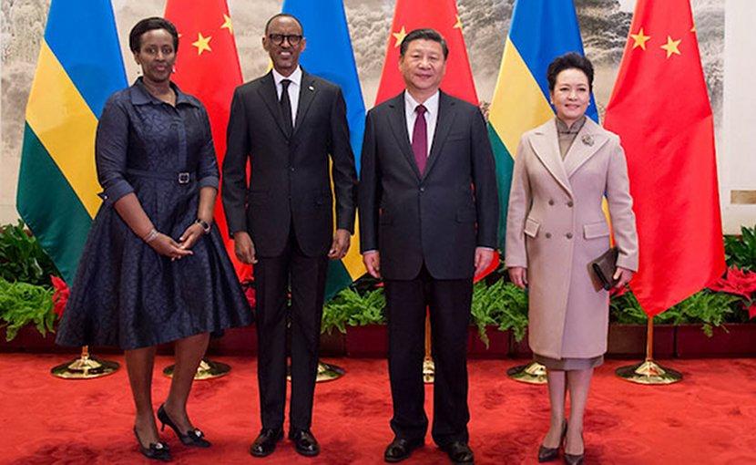 Rwanda's President Kagame meets Chinese President in Beijing. Credit: Paul Kagame's website.