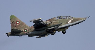 Bulgarian Air Force Sukhoi Su-25. Photo Credit: Chris Lofting, Wikimedia Commons.