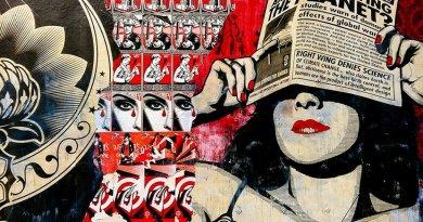propaganda fake news graffiti