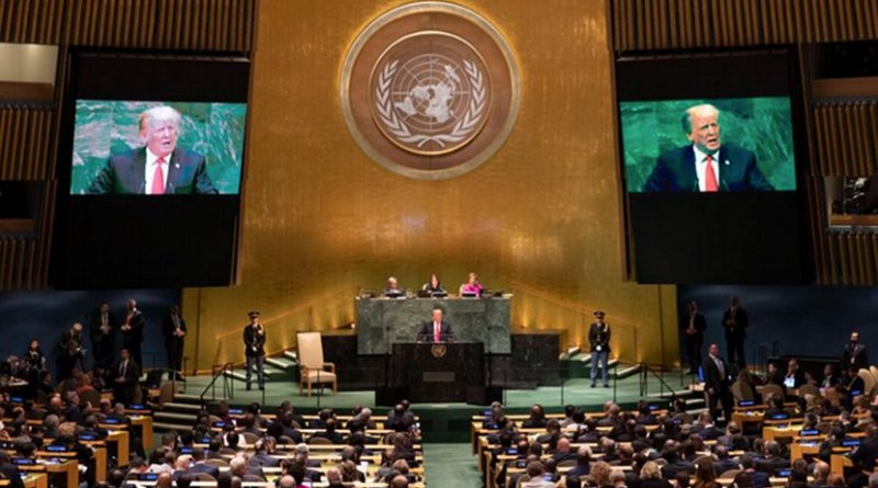 President Trump to the 73rd Session of the United Nations General Assembly. Photo Credit: White House