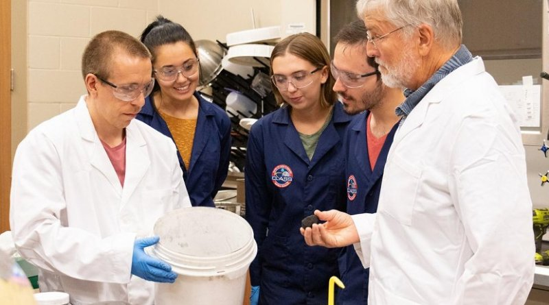 A team of UCF astrophysicists has developed a scientifically based, standardized method for creating Martian and asteroid soil known as simulants. Credit University of Central Florida, Karen Norum