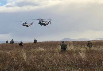 US Marines land in Iceland in initial phase of exercise Trident Juncture. Photo Credit: NATO