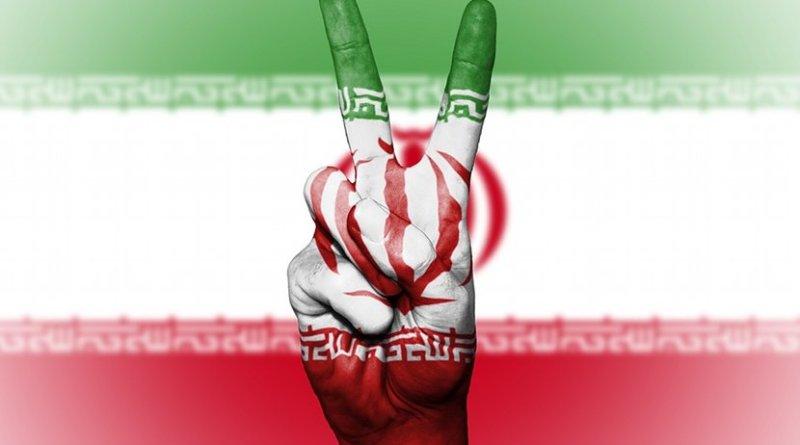 iran flag peace