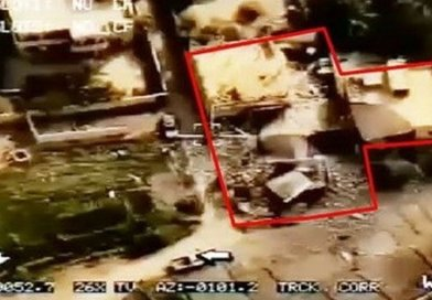 Image of ground zero after Iranian missile attack on terrorists in Syria. Photo Credit: Tasnim News Agency