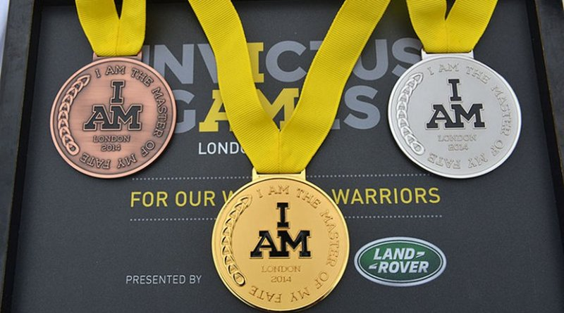 Invictus game medals. Photo Credit: Sergeant Rupert Frere RLC/MOD, Wikipedia Commons.