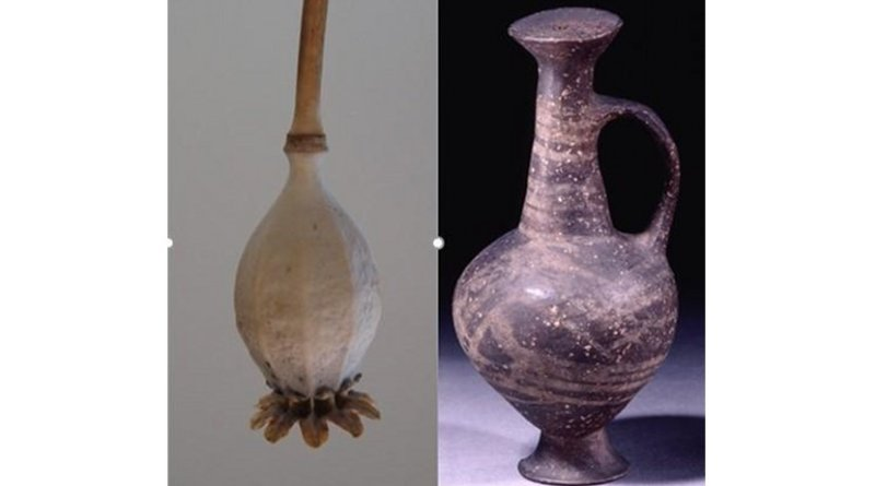 The base-ring juglet resembles the seed head of an opium poppy Credit British Museum